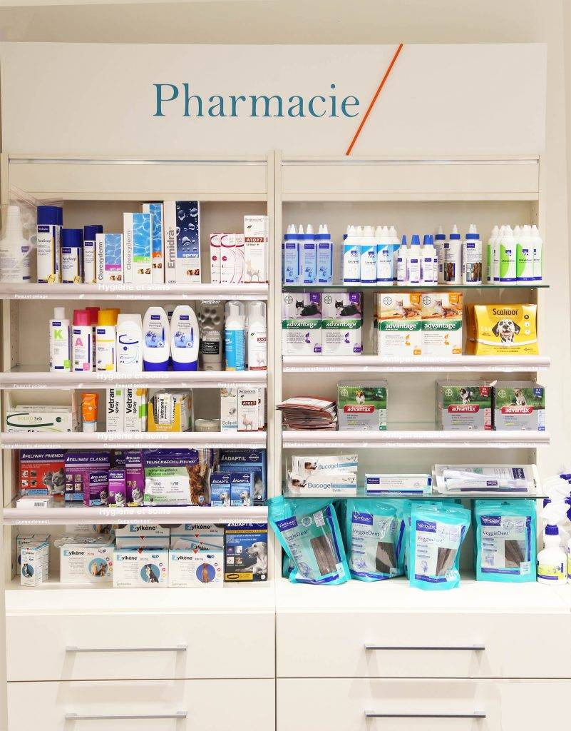 Mobilier pharmacie, Clinique Vernet