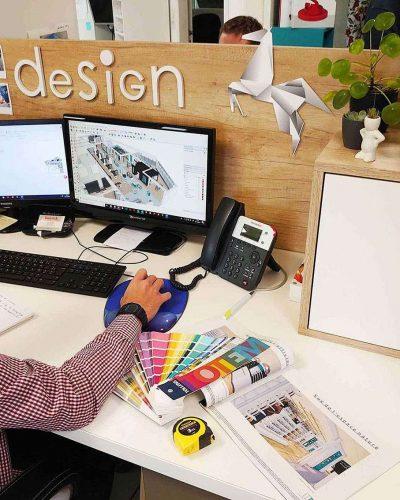 Réalisation 3D de l'atelier design